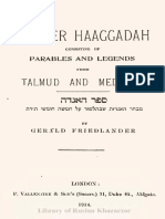 Sepher Haaggadah Consisting of Parables and Legends From Talmud and Midrash (Khazarzar)