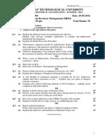 Human Recourse Management (HRM)-SEM-II(0)
