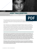 Joint NGO Briefing
