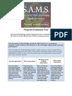 sams evaluation tool