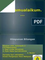 Pp Pdm Himpunan Bilangan