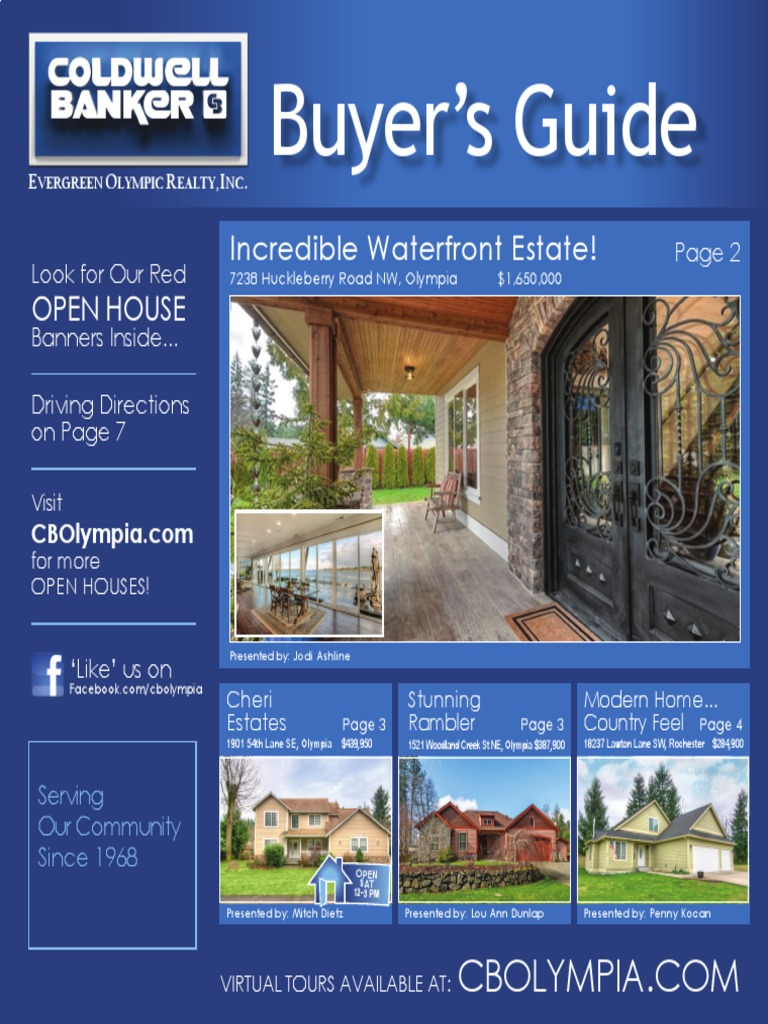 Coldwell Banker Olympia Real Estate Buyers Guide March 25th