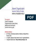 Sistemi Organizzativi Docente- Stefano Smriglio Stefano.smriglio@Univaq.it