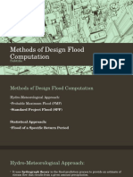 Methods of Design Flood Computation