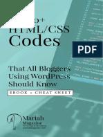 Mariah Magazine HTML CSS Codes