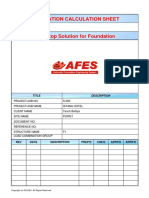 Foundation Design by AFES program