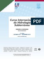 17º Curso Internacional de Hidrología Subterránea, versión a distancia (2017-2019)