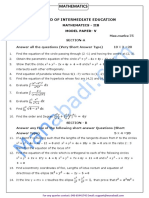 Inter II Year Maths- IIB Question Paper - V