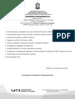 ProgramadeEstudo-572016SistemaseEngenhariadeSoftware