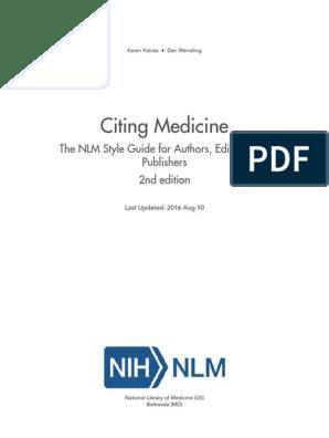 Citing Medical 2016 | Citation | Pub Med