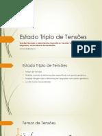 Aula 05 - Estado Triplo de Tensões