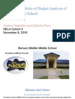 electronic portfolio of budget analysis of  benson middle school  1