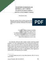 La Concepcion Ciceroniana de Republica, Ley y Virtud