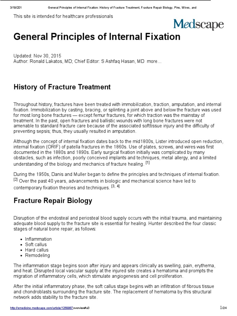 General Principles of Internal Fixation_ History of Fracture