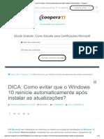 Como Evitar Que o Windows 10 Reinicie Automaticamente Após Instalar as Atualizações
