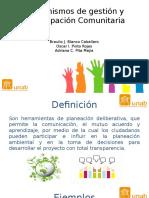 Mecanismos de Gestión y Participación Comunitaria