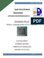 Informe Java Usb Pic