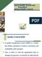 Apply Quality Control
