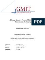 michael bourke g00315030 - a comprehensive personal statement of educational philosophy