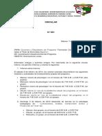 CIRCULAR N° 001 PARA ESTUDIANTES Y DOCENTES 6 DE FEB 2014