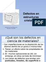 Defectos en ciencia de los materiales