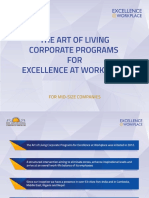 Corporate Programs for Excellence @ Workplace Art of Living