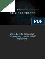 LinkedIn B2B Marketing Trends - released 3.10.17