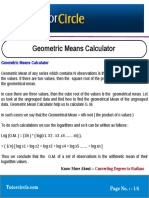 Geometric Means Calculator