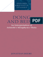 Beere Doing and Being an Interpretation Meta Theta