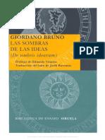 Giordano Bruno - Las Sombras de Las Ideas