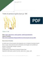 Trofie Di Semola Di Grano Duro Gr. 500