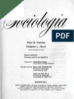 Sociología-Paul B, Horton Chester L. (Primeros Capítulos)