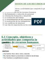Tema 6.La Gestion de Los Recursos Humanos