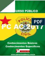 APOSTILA PC AC 2017 AGENTE DE POLÍCIA + VÍDEO AULAS