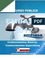 APOSTILA EMBASA 2017 TÉCNICO EM ELETROMECÂNICA + VÍDEO AULAS