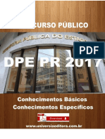APOSTILA DPE PR 2017 ADMINISTRADOR + VÍDEO AULAS