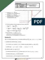 Devoir de Contrôle N°1 - Math - Bac Mathématiques (2016-2017) Mr Kayel Moncef
