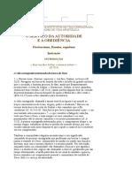 Documento Sobre Autoridade e Obediência
