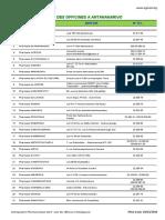 Liste Pharmacie