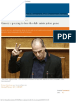 Greece is playing to lose the debt crisis poker game _ Business _ The Guardian.pdf