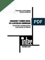 Educacion y Cambio Social en La Republica Dominincana