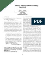 Similarity Estimation Techniques from Rounding Algorithms