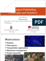 Multi-Agent Pathfinding, Challenges and Solutions