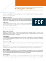 pltw gateway unit descriptions