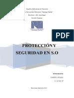 PROTECCIÓN Y SEGURIDAD EN SISTEMAS OPERATIVOS