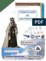 Formulario Matematica 4to