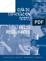 Restaurant Safety Trainer Guide