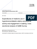 Expenditures of medicine use in hypertensive/diabetic elderly and physical activity and engagement in walking