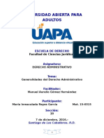 Tarea 1- Generalidades Del Derecho Administrativo