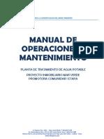 Manual O&M PTAP Camposol Revisado 12-12-16